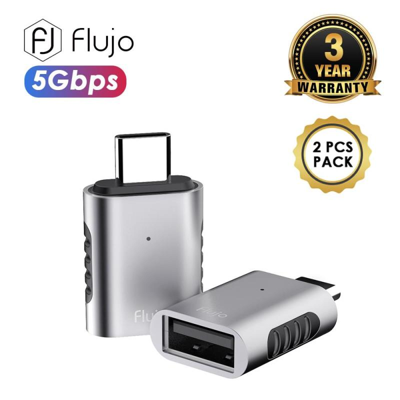 Flujo AH-62 Grey AH-62 USB C to USB3.0 Grey (2 PCs Packaging) PassionHome.sg Passion Home