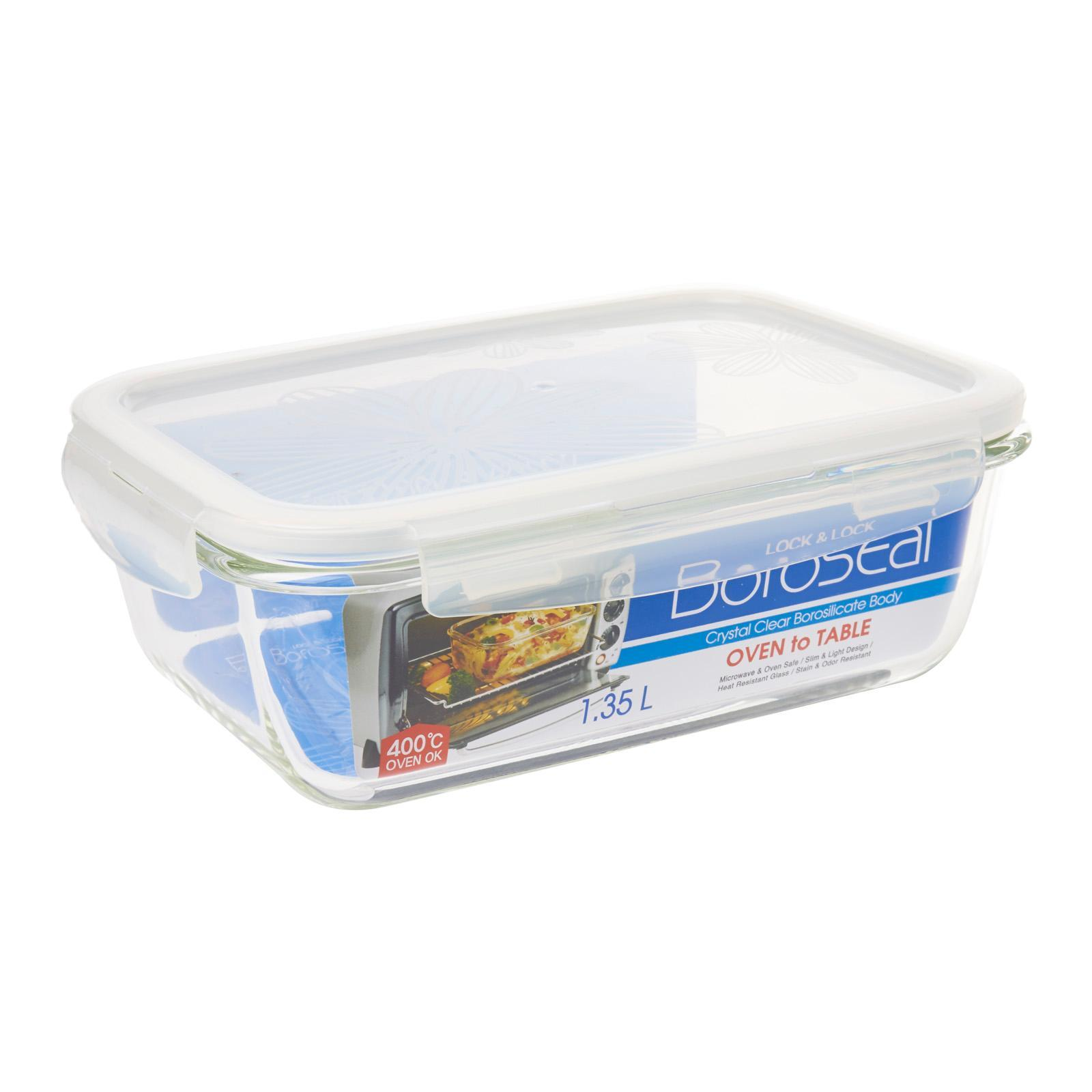 Lock and Lock Boroseal Heat Resist Glass Rectangle 1.35L