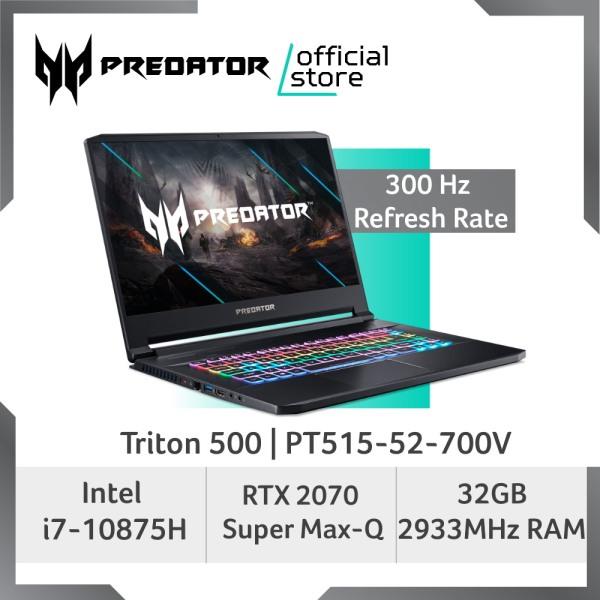 [LATEST] Predator Triton 500 PT515-52-700V NEW 300Hz Gaming Laptop with 10th Gen Intel Core i7-10875H Processor and RTX 2070 Super Max-Q Graphic Card