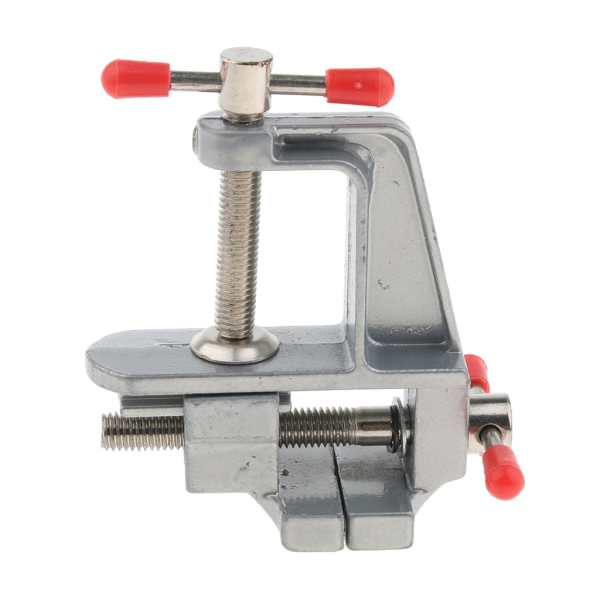 Perfk Universal Mini Walnut Vise Clamp Table Bench Vice for Crafts, Jewelry, DIY