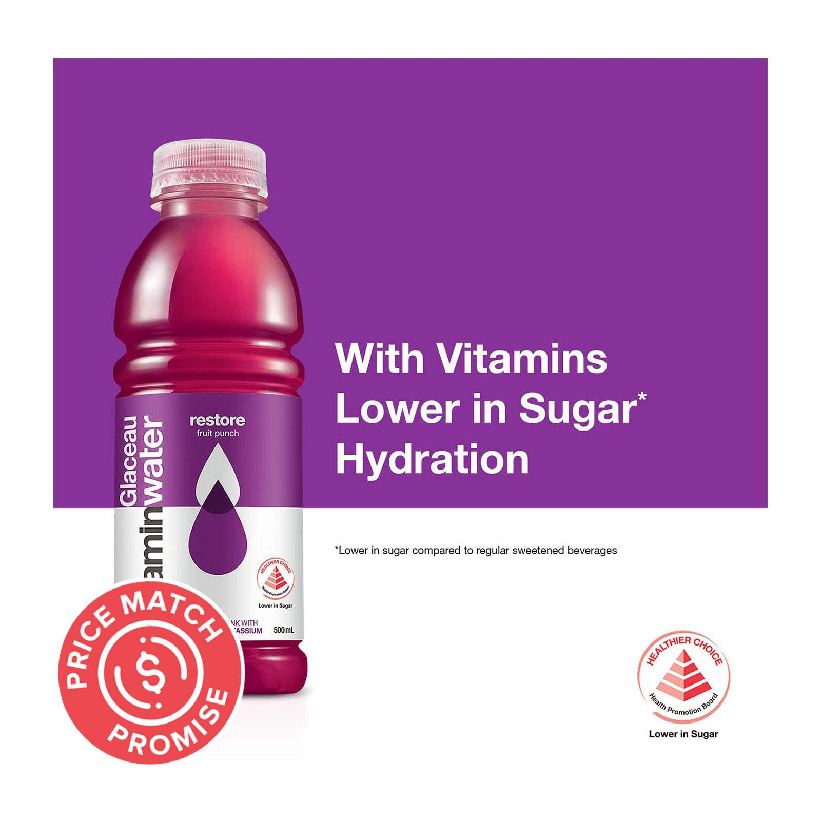 GLACEAU Vitamin Water Restore Fruit Punch 500ml
