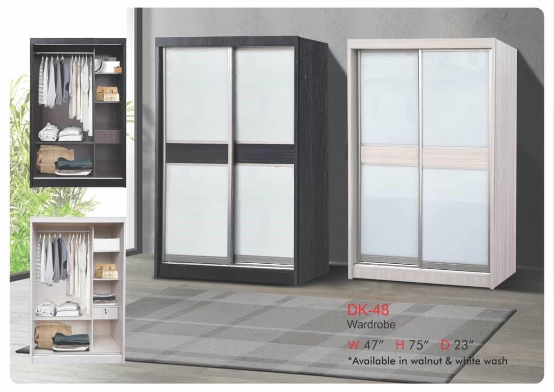 DK-48 120cm 2 Doors Sliding Door Wardrobe