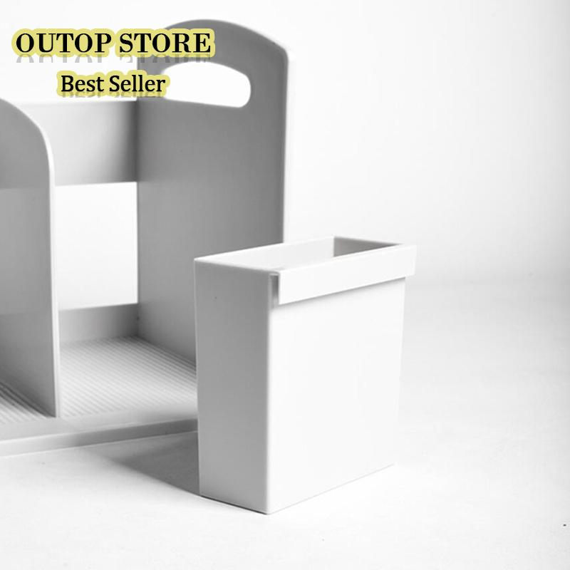 OUTOP Multifunction Tabletop Bookshelf Storage Rack For Office Computer Desk