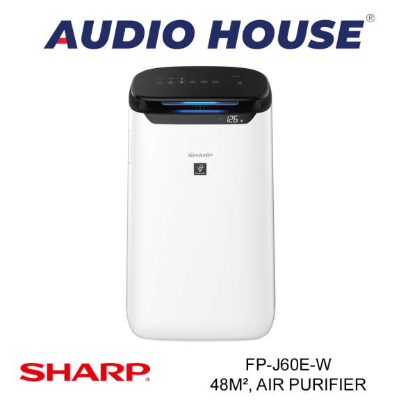 SHARP FP-J60E-W 48m², AIR PURIFIER (WHITE) ***1 YEAR SHARP WARRANTY*** Singapore