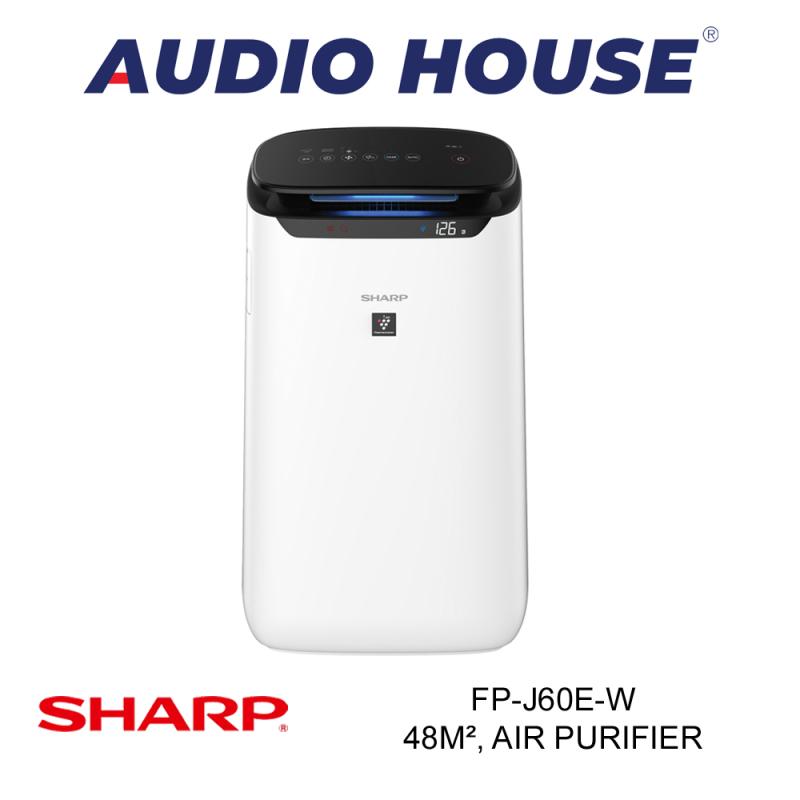 SHARP FP-J60E-W 48m², AIR PURIFIER (WHITE) ***1 YEAR SHARP WARRANTY*** Singapore