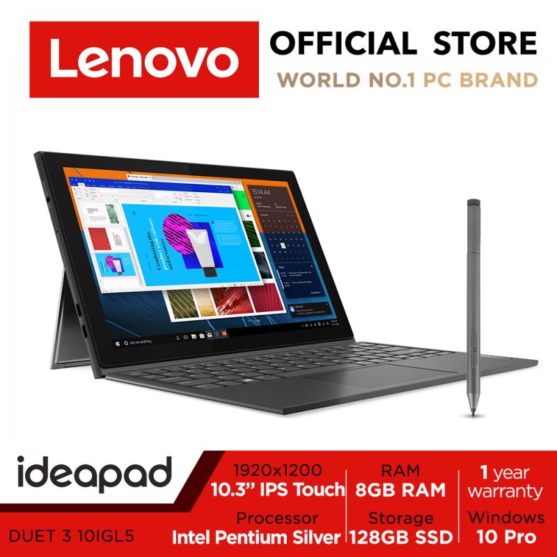 Lenovo ideapad Duet 3i Pentium 8GB RAM 82AT007GSB | 10IGL5 | 2-1 detachable | 10.3 WUXGA (1920x1200) IPS | Intel Pentium Silver  | 8GB RAM | Win10 Pro