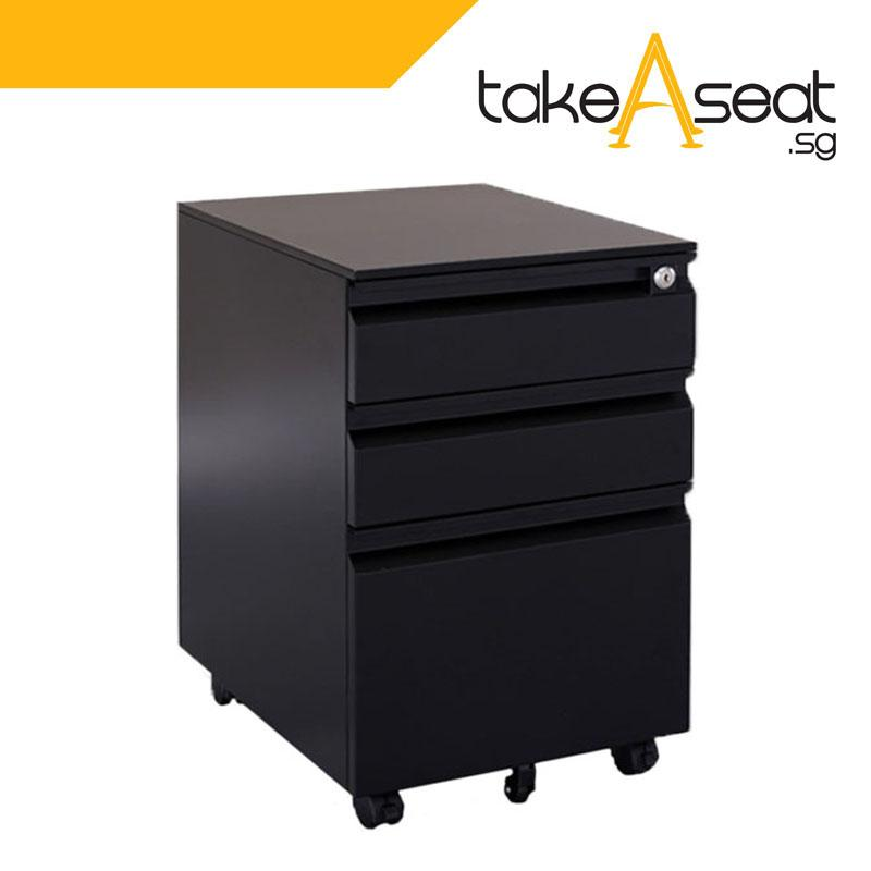 Metal Pedestal Drawer (Key Lock)