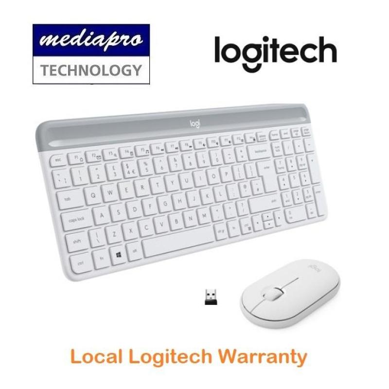 Logitech MK470 Slim, Compact and Quiet Wireless Keyboard and Mouse Combo ( Off White ) - Local Logitech Warranty Singapore