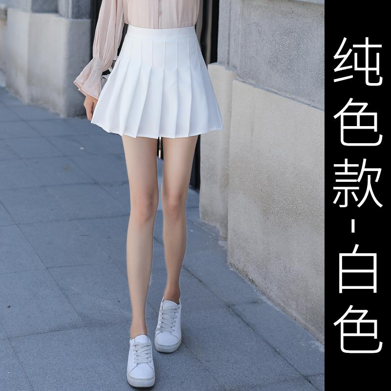 d64f36a85 2019 New Style Plaid Skirt Female Spring a Word Pleated Short Skirt High- waisted INS