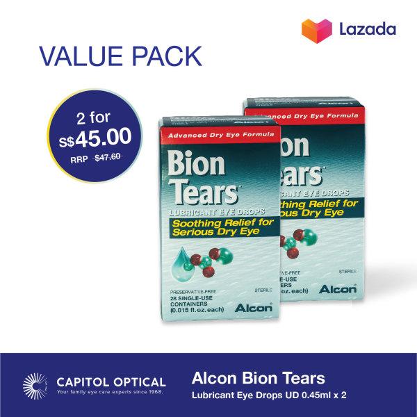 Buy Alcon Bion Tears Lubricant Eye Drops UD 0.45ml x 2 Singapore