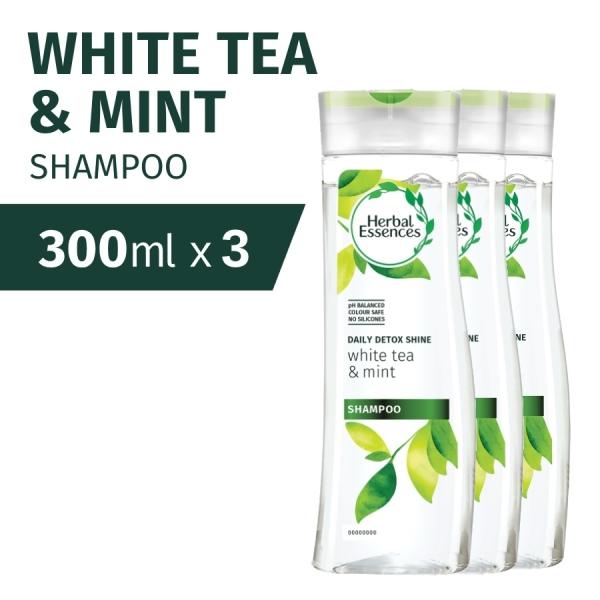 Buy [Bundle of 3] Herbal Essences Daily Detox Shine White Tea & Mint Shampoo 300ml Singapore