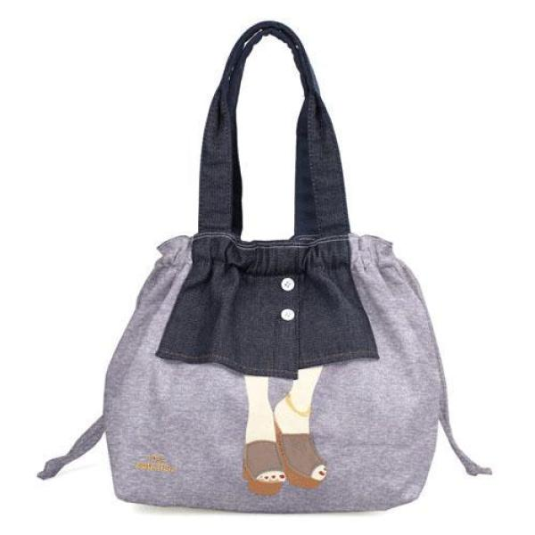 [Mis Zapatos] B-6700 Button skirt Drawstring tote