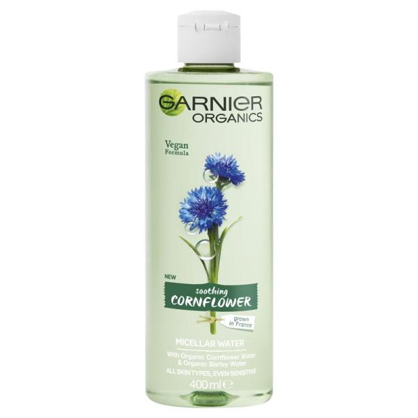 Buy Garnier Organics Soothing Cornflowers Micellar Water 400ml  ( Vegan- Made in France ) Our micellar water is dermatologically and ophthalmologically tested. Suitable for sensitive skins, sensitive eyes and contact lens wearers. Singapore