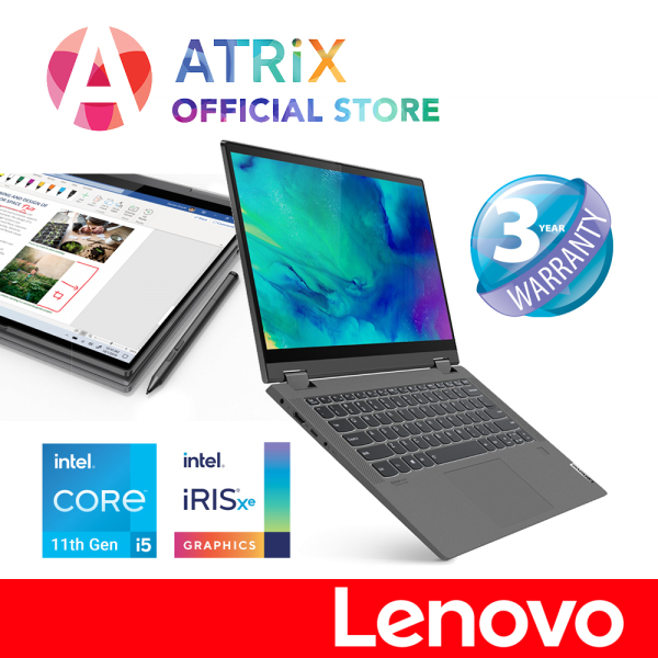 【Same Day Delivery】Ideapad Flex 5 14ITL05 82HS000XSB | 14inch FHD IPS Touch Screen | i5-1135G7 | 16GB RAM | 512GB SSD | Iris Xe Graphics | Lenovo Digital Pen | 3 Years Onsite warranty