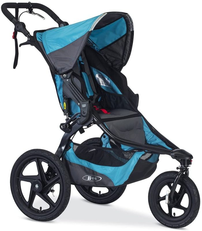 BOB Revolution PRO Newborn Infant Baby to Child Children Kids All in One Jogging Jogger Sports Running Active Stroller Jogger, Lagoon Blue Singapore