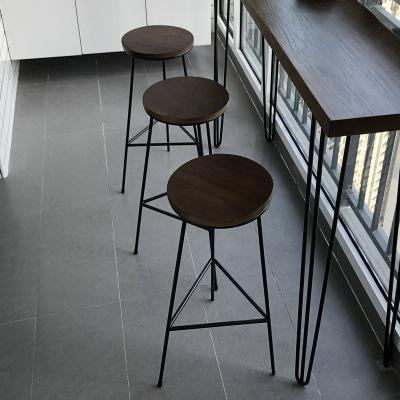 American Industrial Wind Vintage Bar Counter Table Household Small Apartment Strip against the Wall Narrow Table Cafe Leisure Bar Counter Tables And Chairs
