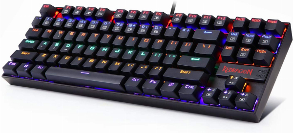 Redragon K552 Mechanical Gaming Keyboard RGB LED Rainbow Backlit Wired Keyboard with Red Switches for Windows Gaming PC (87 Keys, Black) Singapore