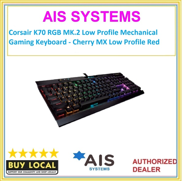 Corsair K70 RGB MK.2 Low Profile Mechanical Gaming Keyboard - Cherry MX Low Profile Red Singapore