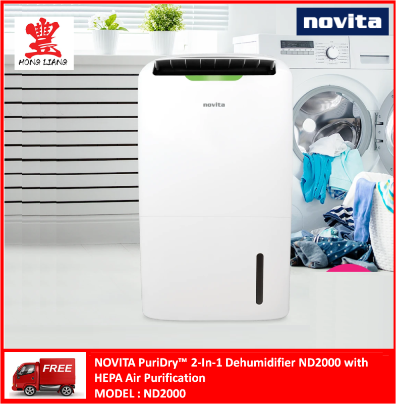 Novita PuriDry™ 2-In-1 Dehumidifier ND2000 Singapore