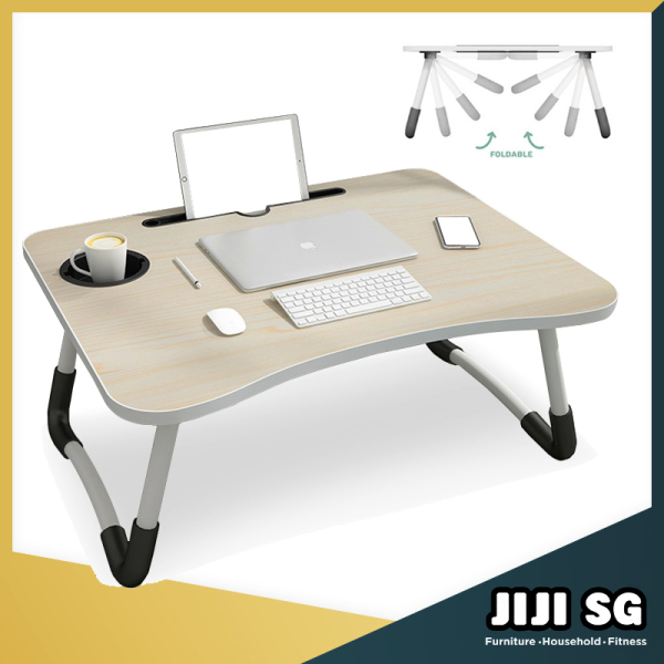 (JIJI SG) ★ MANZO Laptop Table Stand ★ Space Saving ★ Foldable★ Laptop Table ★ Convenience★ Computer Table (JIJISG)
