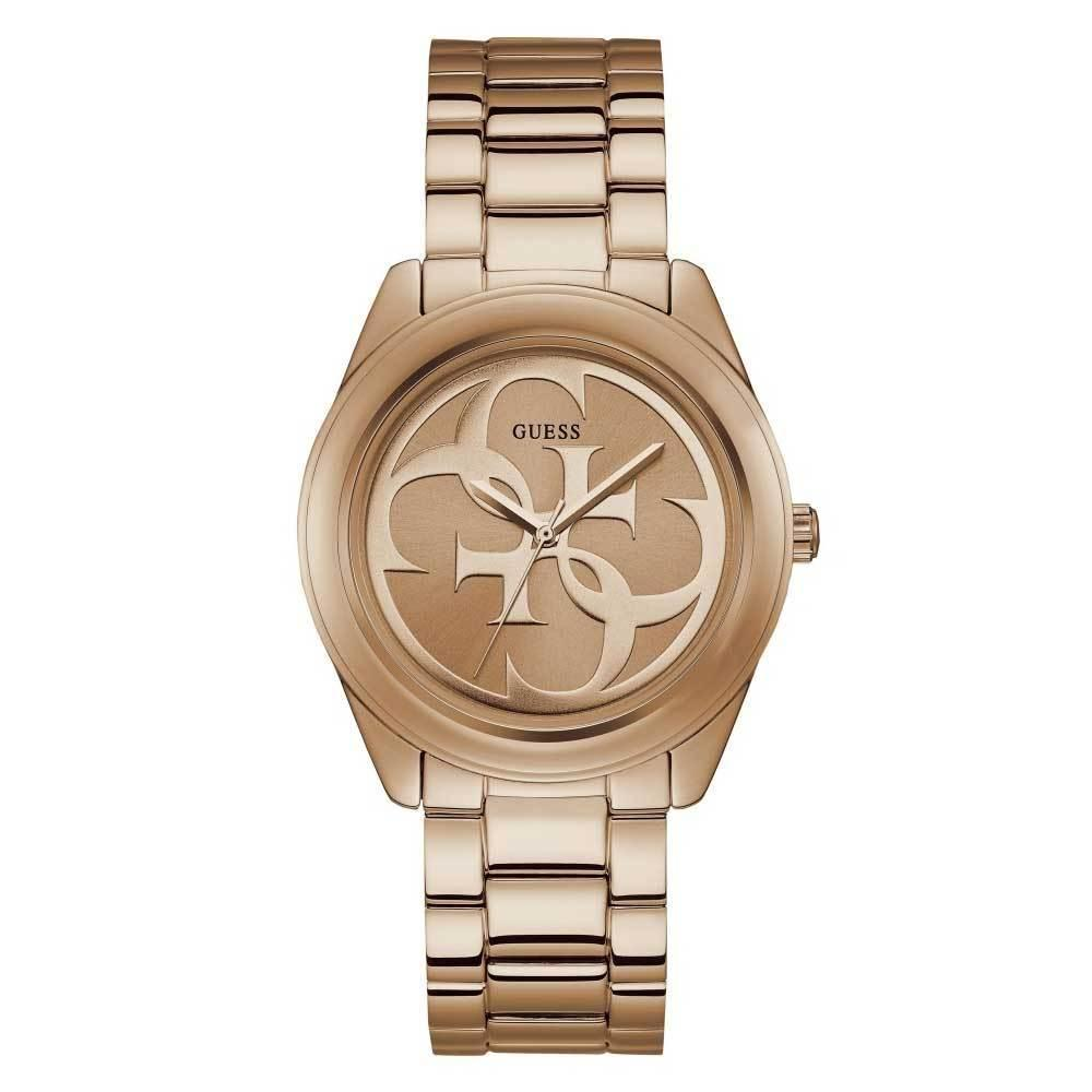 afd3cdb72 GUESS G TWIST QUARTZ W1082L3 STAINLESS STEEL ROSE GOLD STAINLESS STEEL  STRAP WOMENS WATCH