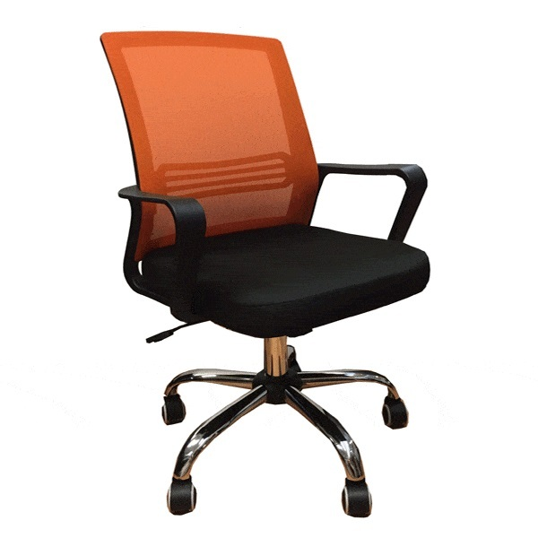 QUARTZ II Low Back Office Chair  Mesh Chair (Orange Mesh) Office Chair | Student Mesh Chair | Home Computer Chair Singapore