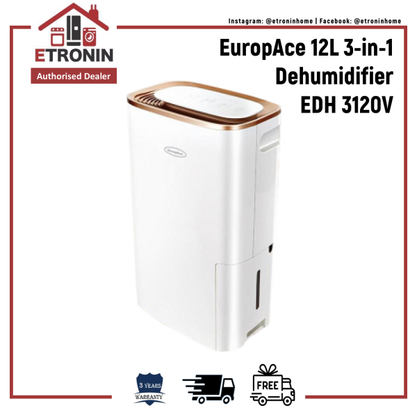 EuropAce 12L 3-in-1 Dehumidifier EDH 3120V Singapore