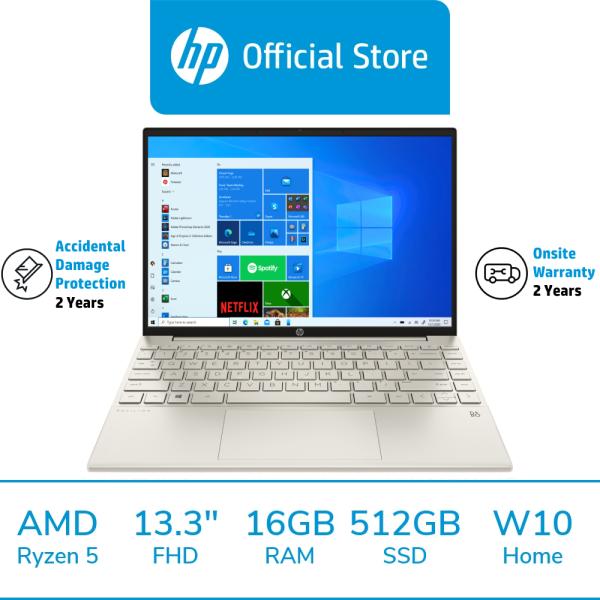 HP Pavilion Aero Laptop 13-be0026AU / AMD Ryzen 5 5600U / 16GB RAM / 512GB SSD / 13.3 FHD / Win 10 / 2 Years Onsite Warranty / 2 Years ADP / McAfee LiveSafe Included / Thin & Light / Portable