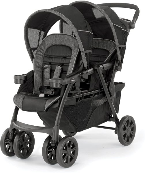 Chicco Cortina Together Double Two 2 Seater Seat Newborn Baby Infant Child Child Children Kids Stroller, Minerale Black Singapore