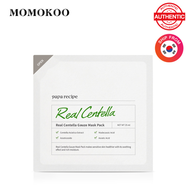 Buy Papa Recipe Real Centella Gauze Mask Pack 25ml *5 Sheet Mask Rich Essece Sooting Facial Mask Expiry Date:2021.8 Singapore