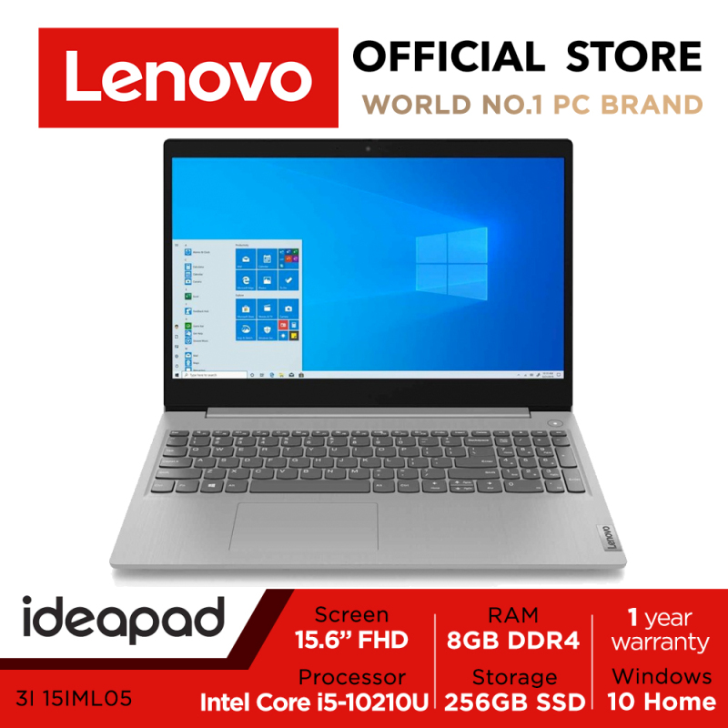 Lenovo IdeaPad 3i 15IML05 | 81WB014JSB | 15.6 FHD (1920x1080) | Intel Core i5-10210U | 8GB DDR4-2666 | 256GB SSD | 1Y Premium Care