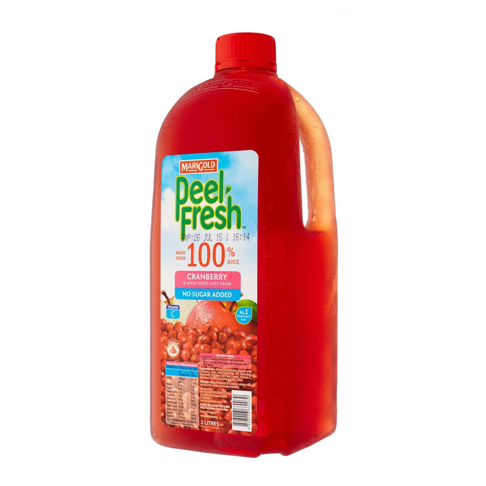 MARIGOLD Peel Fresh No Sugar Added Juice Drink - Apple Cranberry