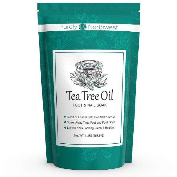 Buy Purely Northwest Tea Tree Oil Foot Soak with Epsom Salt - Made in USA, Alleviate Toenail Fungus, Athletes Foot and Stinky Foot Odors. Softens Dry Calloused Heels, Leaving Feet Feeling Soft, Clean and Healthy -16oz Singapore