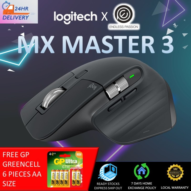 Logitech MX Master 3 Advanced Wireless Mouse - Graphite [24 hours delivery]