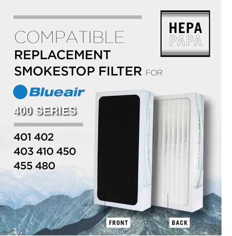 Blueair 400 Series SmokeStop Compatible Filter For Blueair Classic 401 402 403 410B 450E, 455EB, 480i [SG Seller] [7 Days Warranty] [Free Alcohol Swab] Singapore