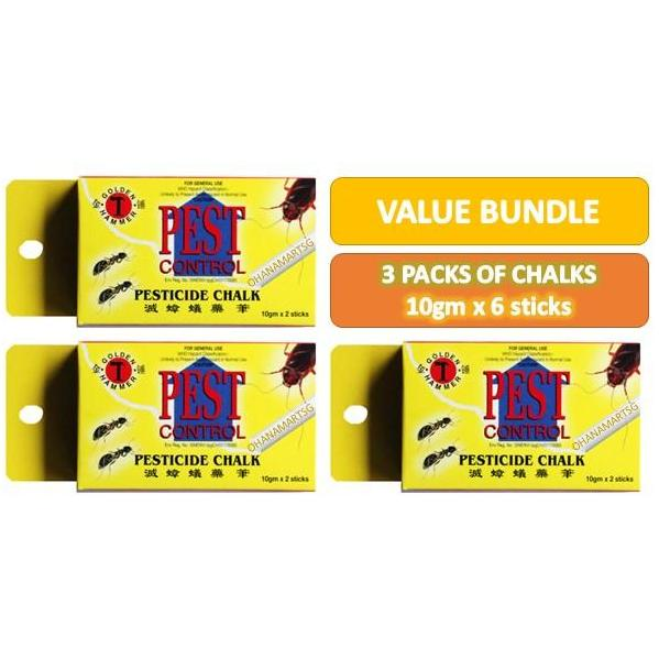Golden Hammer Pest Control - Pesticide Chalk ( Bundle of 3 )