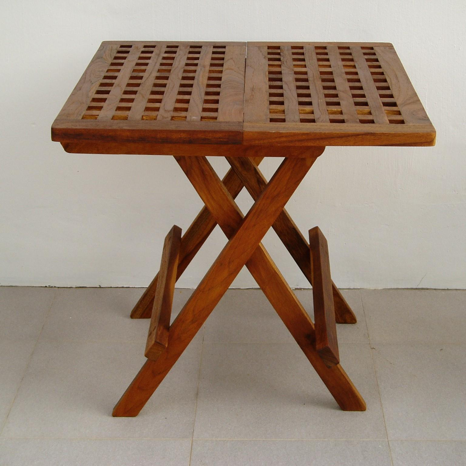 Levante Teakwood Picnic Table with Natural Wood Color (Size:W50 x D50 x H50cm)