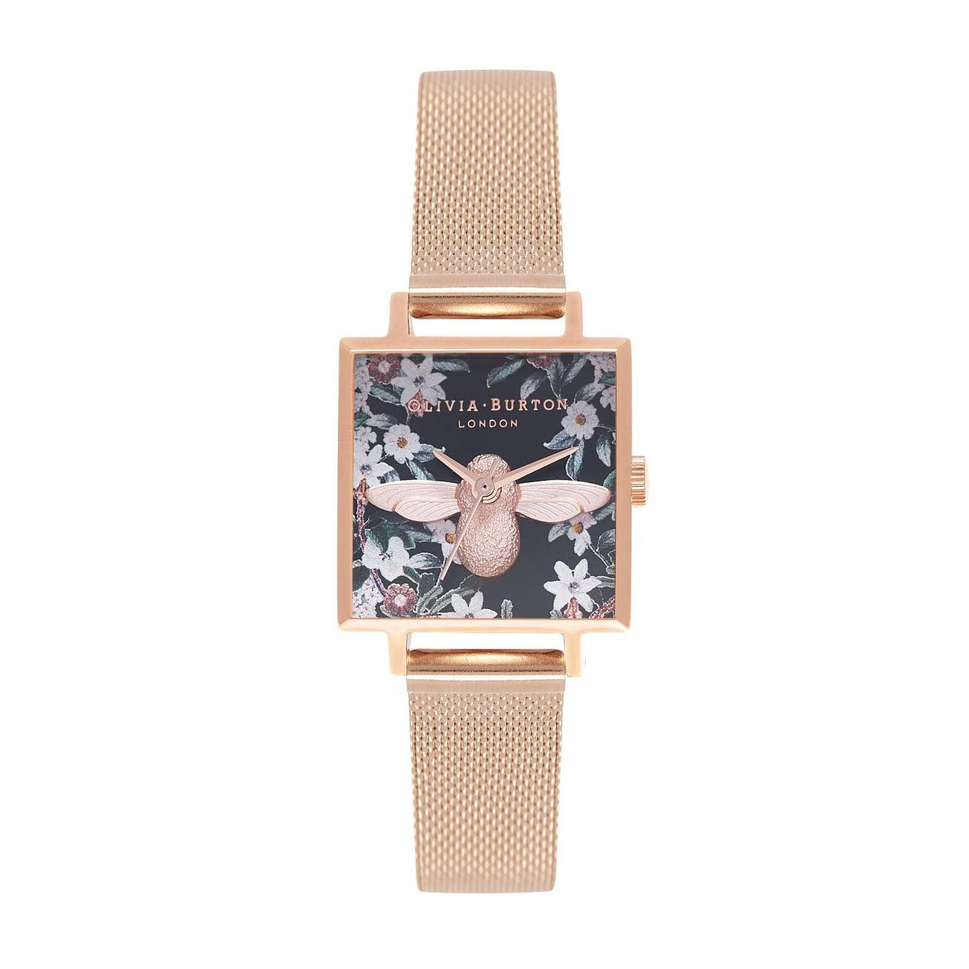 Olivia Burton 3d Bee Floral Multi Colour Dial 22mm Quartz Womens Rose Gold Stainless Steel Strap Watch Ob16am134 By Watch Centre.