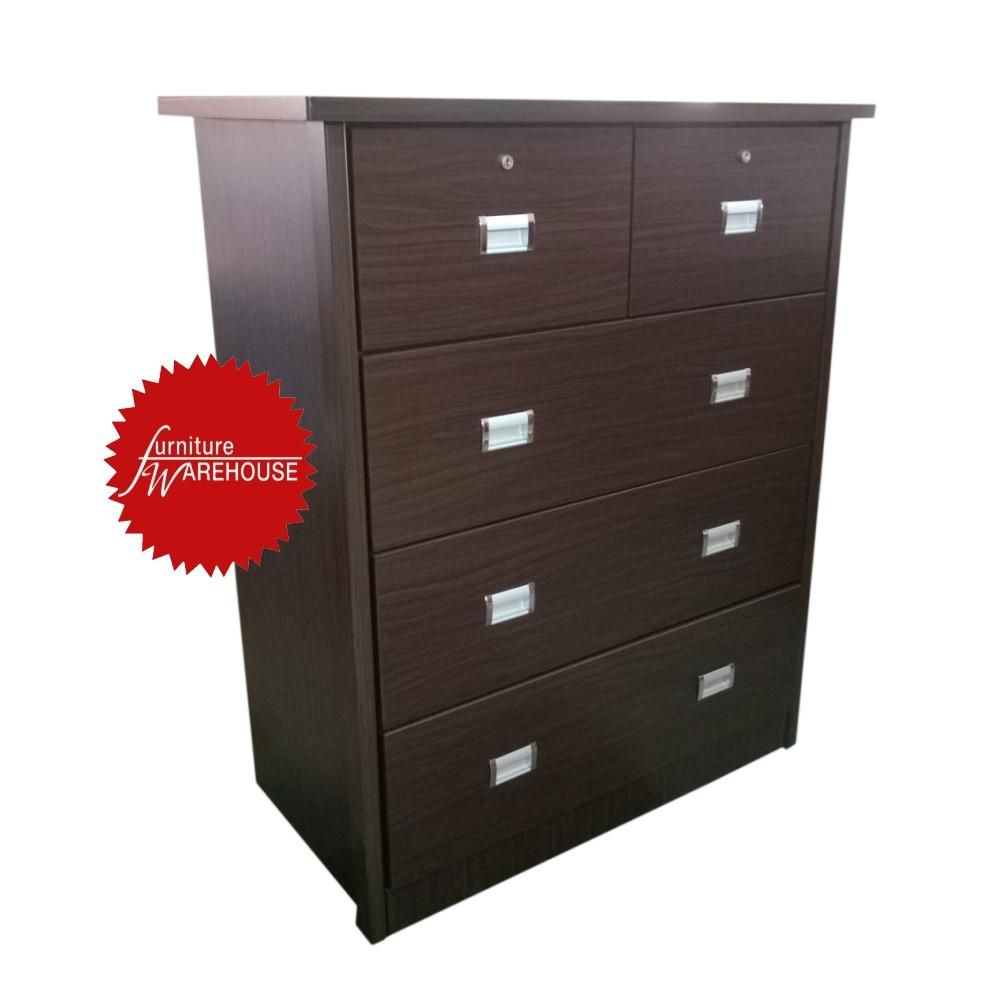Claire Chest Of Drawer - Walnut Colour