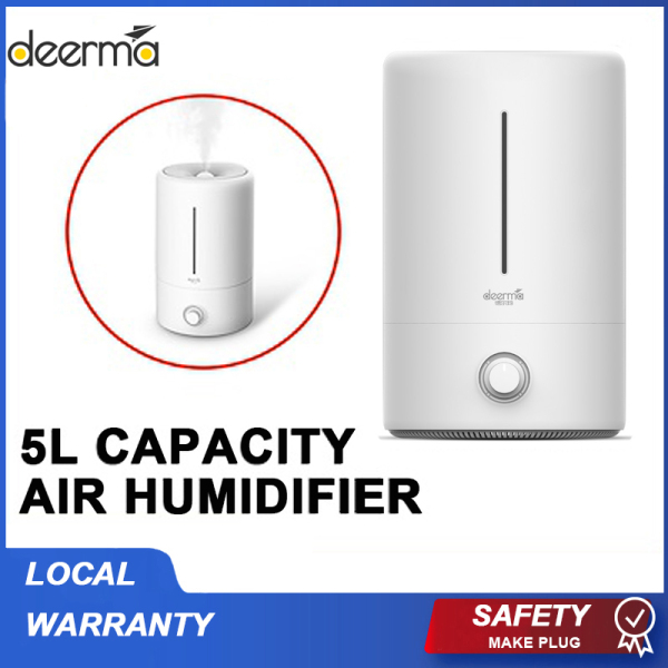 Deerma 5L Ultrasonic Air Humidifier Aroma Diffuser Purifier SG Plug for Household Office Home add Aroma oil Singapore