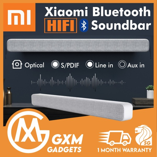 Xiaomi TV Soundbar Wireless Bluetooth Speaker Portable TV Sound bar Support Optical SPDIF AUX Computer Desktop Wall Mount Speakers-Silver Singapore
