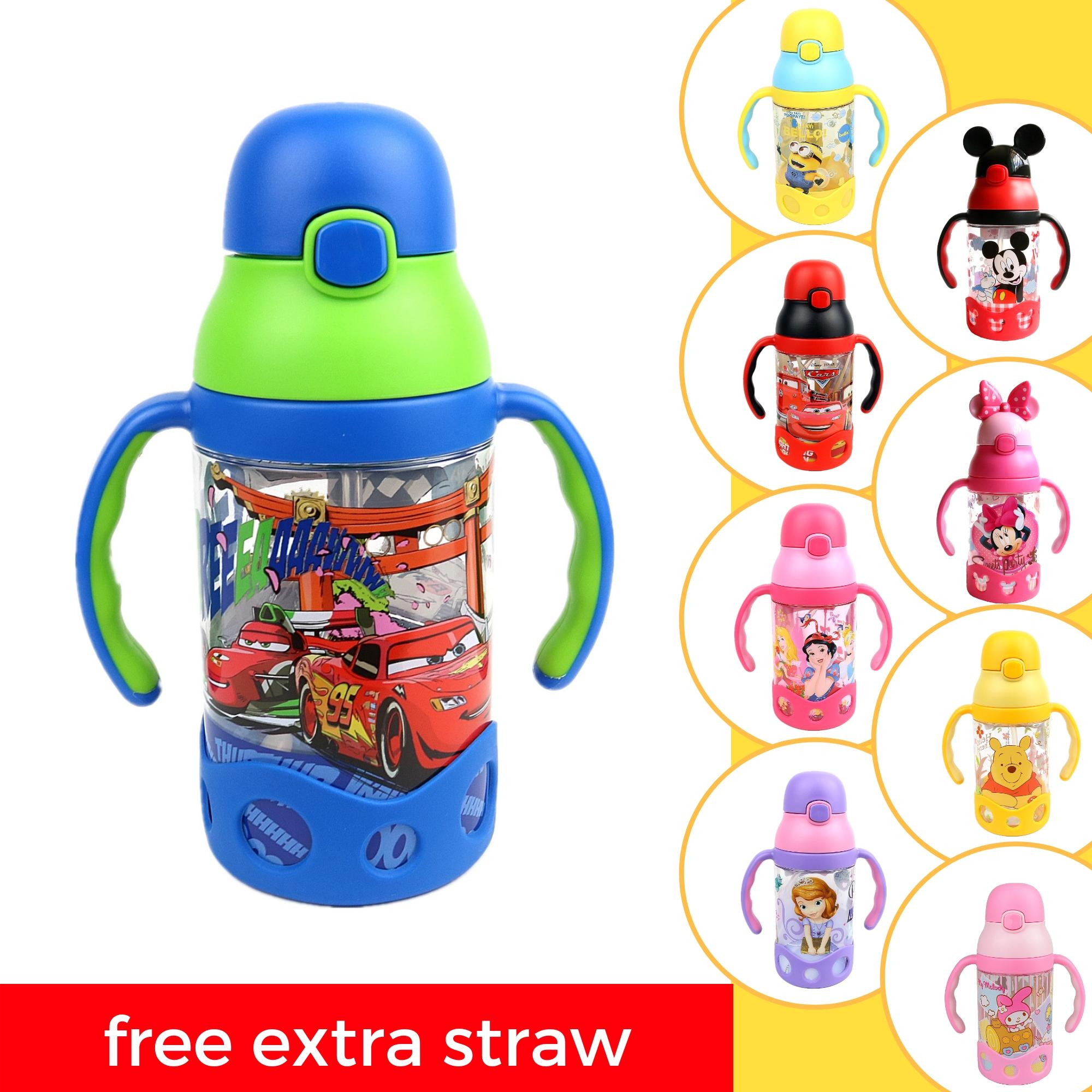 2476b0a75f7 Disney And Minion Kids Baby Water Bottle Learning Cup With Straw Bpa-Free  400ml By