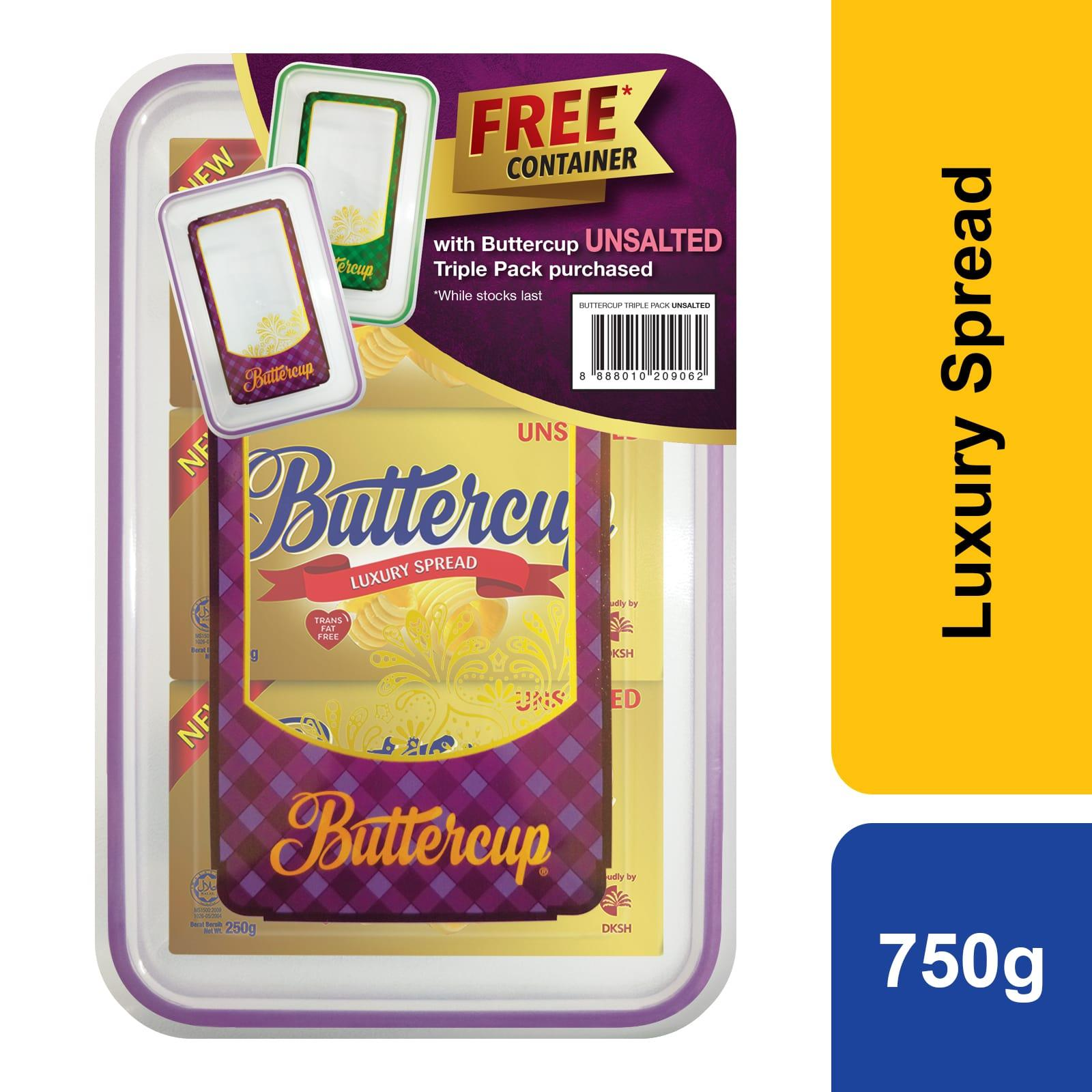 Buttercup Unsalted Luxury Spread Triple Pack