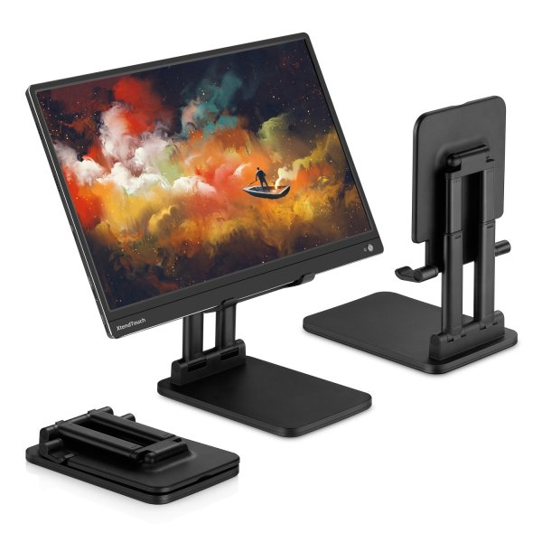 [Pepper Jobs] Solid Sturdy Stand For Tablets / Monitors / Smartphones / Laptops and more. Suitable for Apple iPads, Samsung Tab, Macbook, Pepper Jobs Portable Monitor, Displays and much more