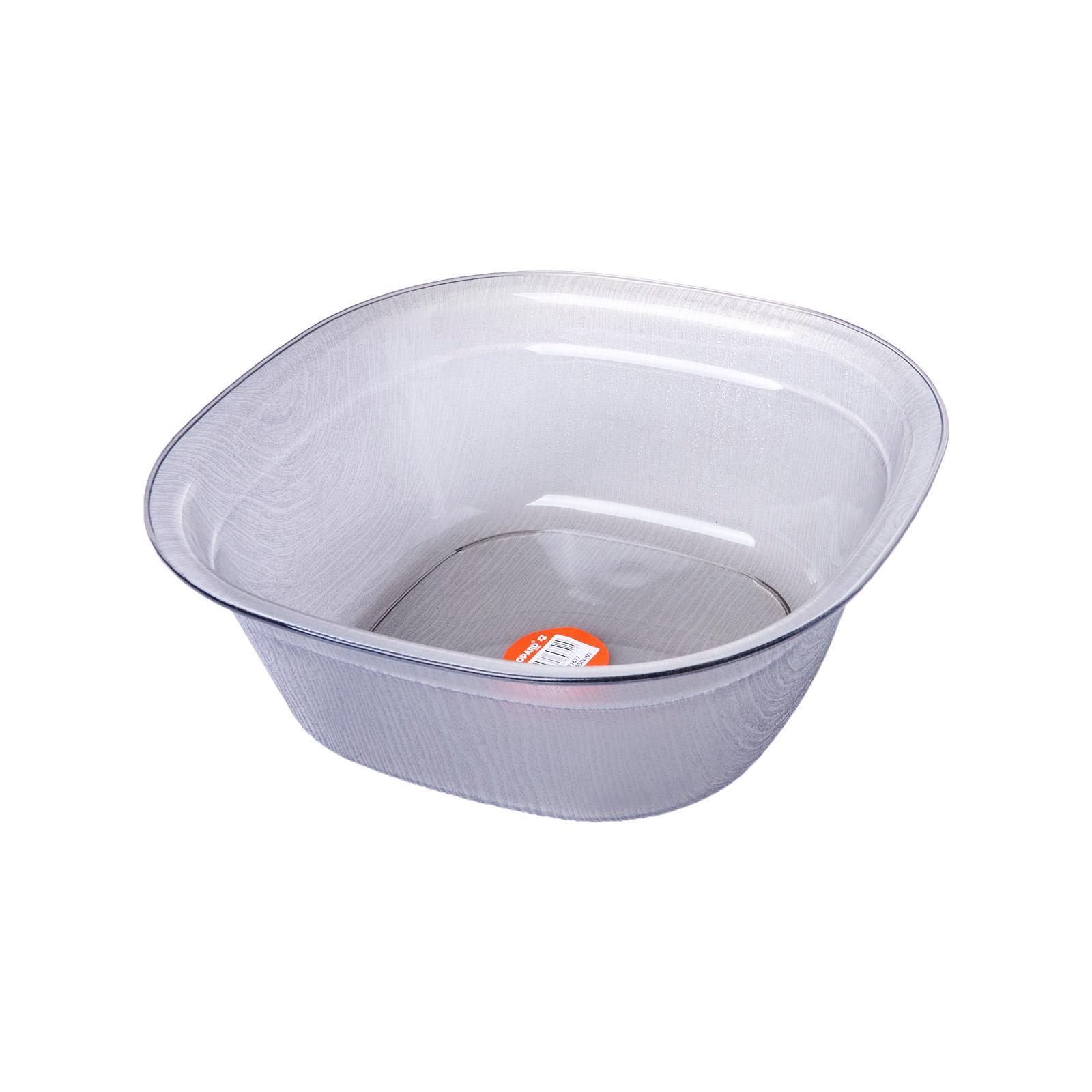 Leopard LN 77677 - Rect Basin Transparent (M) - 28.5 X 10.5 CM (Recyclable Friendly)