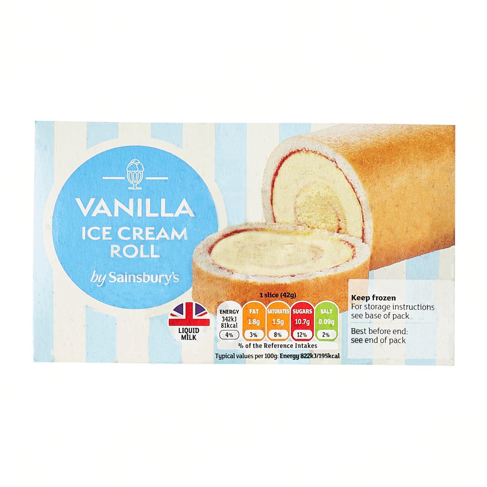 Sainsbury's Ice Cream Roll - Frozen