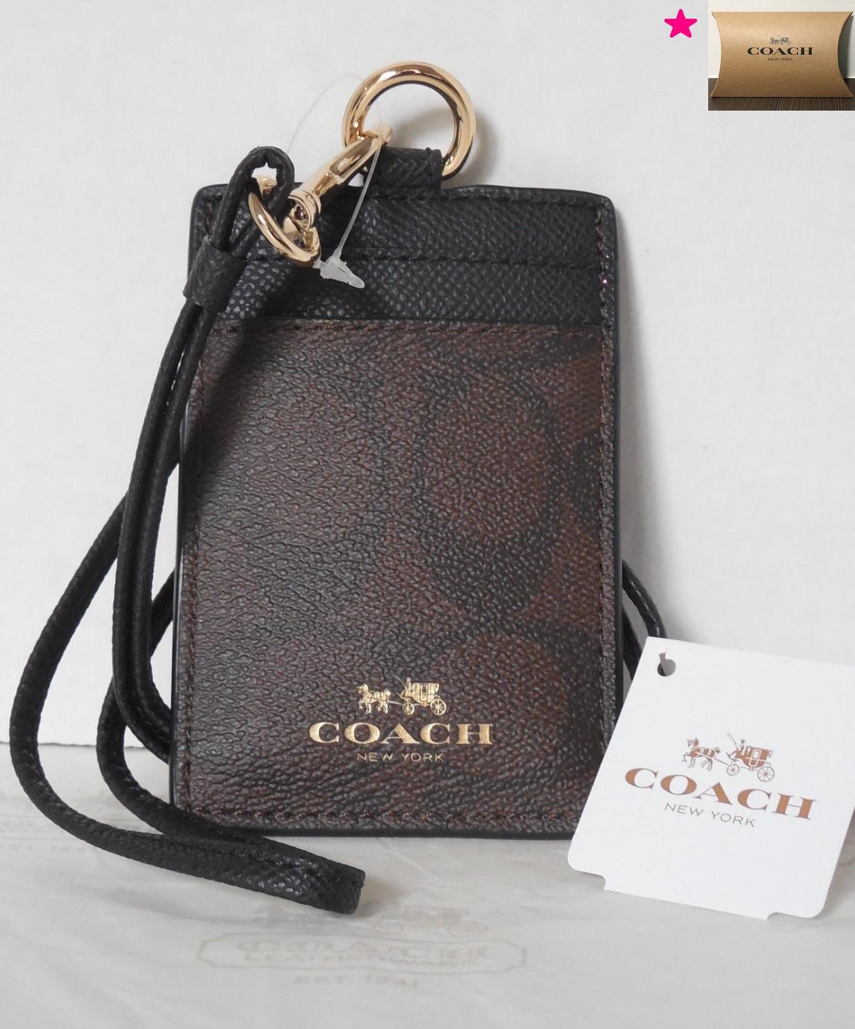 d6bb0b1067c5f Coach - Signature ID Lanyard with Neck Strap (Dark Brown