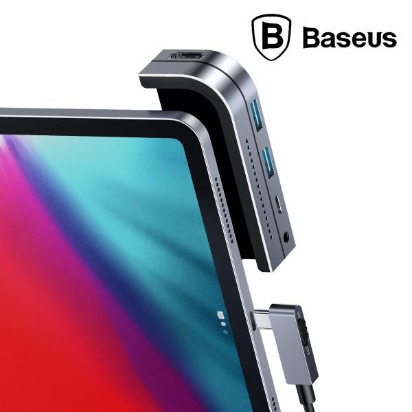 BASEUS iPad Mac Type C Laptop HUB Converter Tablet Adapter Bend Angle No.7 Type-C  6 in 1 Updated  Version
