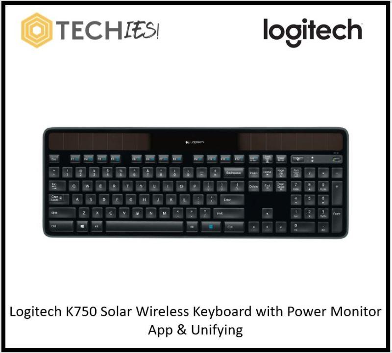 Logitech K750 Solar Wireless Keyboard with Power Monitor App & Unifying Singapore