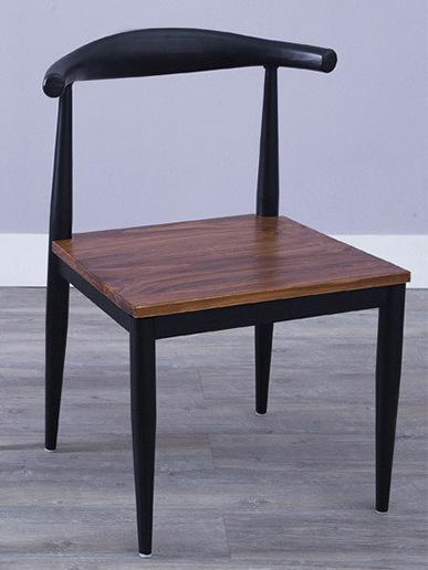 American Loft Lounge Vintage Ox Horn Chair Cafe Tea Shop Dining Chair Hotel Restaurant Iron Chair